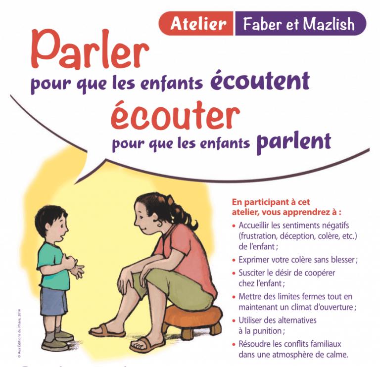 Atelier Faber et Mazlish - Parler pour que les enfants écoutent 1