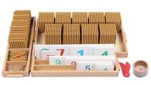 Jeu de Banque de Base décimale de Jouets de Bois de Montessori
