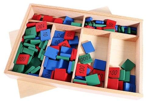 Montessori Boîte Kit Matériel Mathématiques Jouet de Comptage en Bois