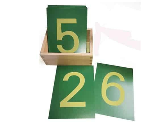 Montessori-Store Chiffres Rugueux en français avec boîte