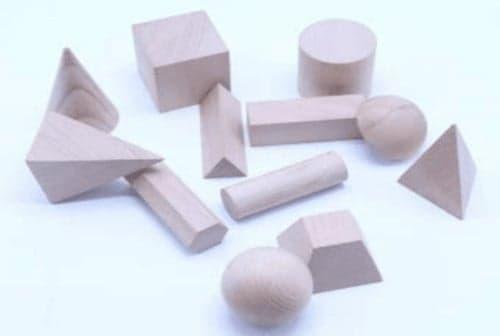 Montessori-Store Solides géométriques en Bois Naturel